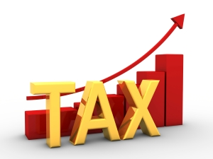 3d render of growing taxation concept